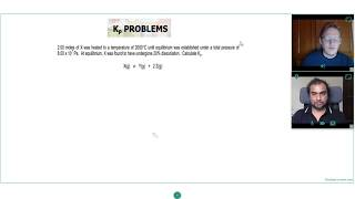 How to calculate Kp when given percentage dissociation