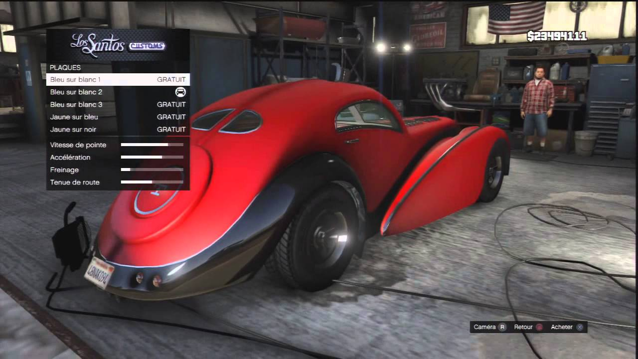 la voiture la plus ch re de gta 5 z type astuces. Black Bedroom Furniture Sets. Home Design Ideas