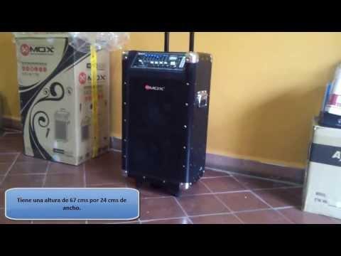Caja Karaoke Mox 12.000 Watts PMPO