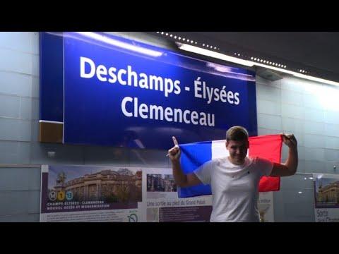 Les Bleus champions: six stations du métro parisien rebaptisées