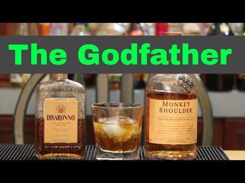 Godfather Cocktail Recipe | Scotch Drinks | Amaretto Drinks