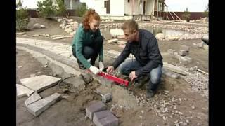 видео Мощение дорожек, план садового мощения участка