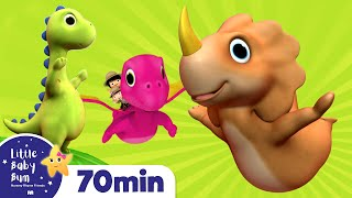 Ten Little Dinosaurs | And More *Numbers Songs* Nursery Rhymes | From LittleBabyBum