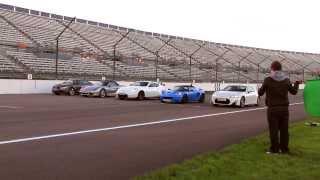 Drag Race: Lotus Elise S vs Nissan 370Z Nismo vs Porsche Boxster vs Toyota GT86 vs Audi TT