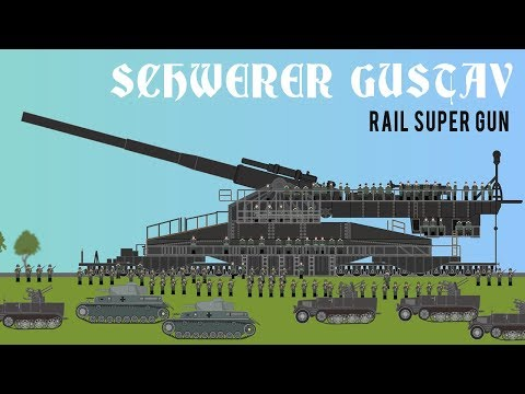 Schwerer Gustav   Rail Super Gun Behemoth