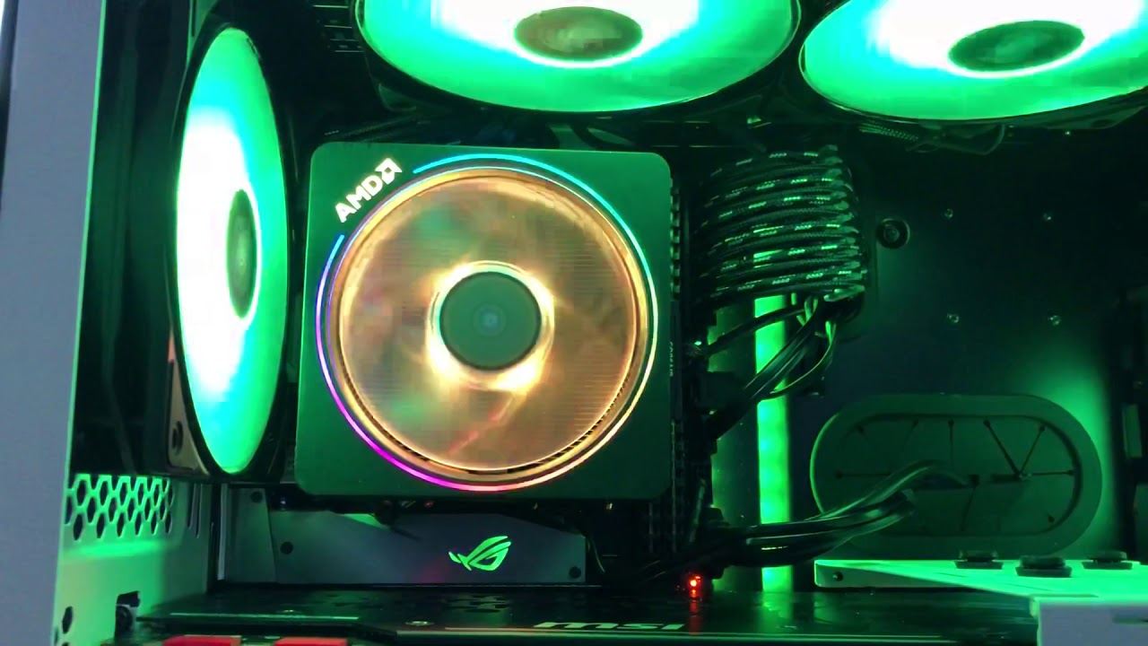 AMD Wraith Prism lighting effects using Coolermaster software