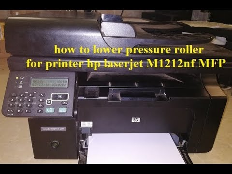 How to Change lower Pressure Roller printer hp laserjet M1212nf MFP