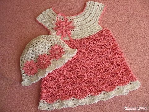 Children's open-work dress-crochet crocheting.We draw a round coquette Dress for a babyиз YouTube · Длительность: 1 час31 мин5 с