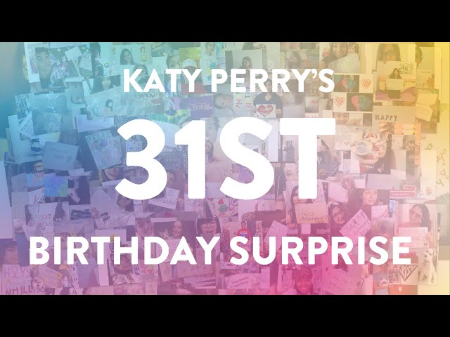 Katy Perry's Birthday Surprise 2015 (From KatyCats to Katy)