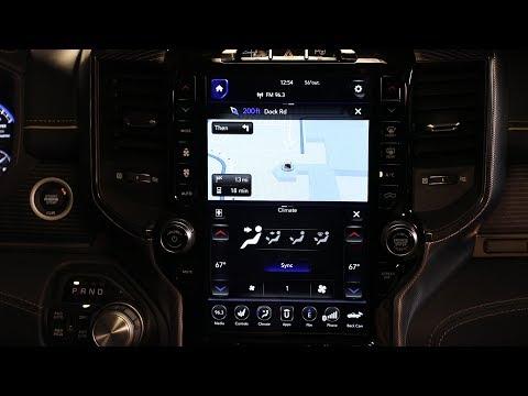 2019 Ram 1500 Uconnect Homescreen Navigation