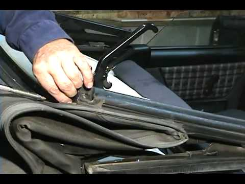 VW Rabbit Cabriolet Installation Video Sample 80-93, Convertible top