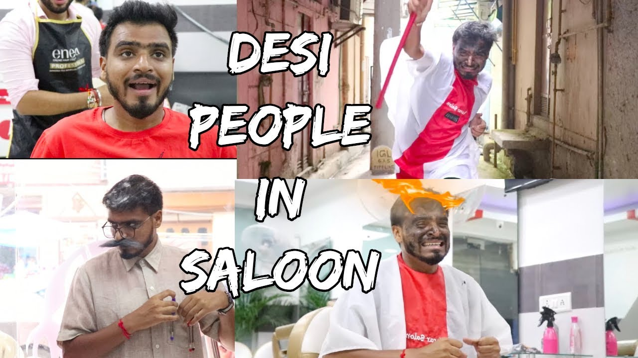 Desi People In Salon - Amit Bhadana