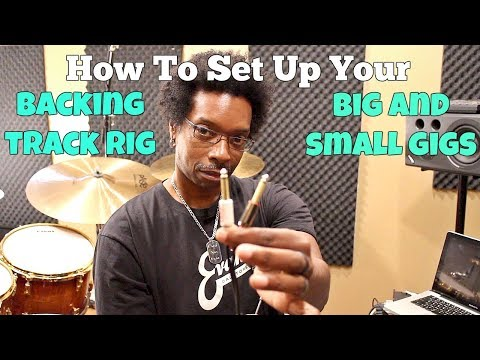 How To SET UP Your BACKING TRACK/CLICK RIG For Big And Small Gigs