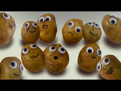 """""""One potato two potatoes"""" nursery rhyme song with googly eyed potatoes – COUNTING lesson"""