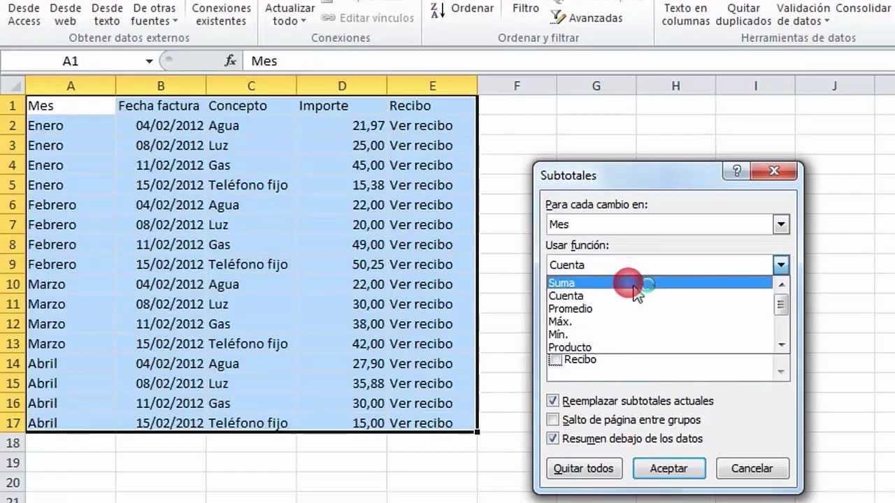 cómo organizar tus facturas con excel práctico en computer hoy