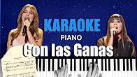 Con las ganas zahara karaoke