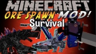 Minecraft Orespawn Mod Survival - Episode 28 - Mobzilla