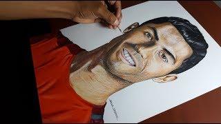 Drawing Cristiano Ronaldo   Dibujo Realista