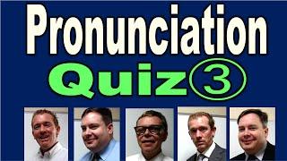 Pronunciation Quiz (3) [ ForB English Lesson ]