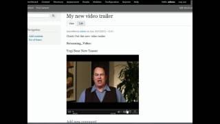 видео video drupal 7