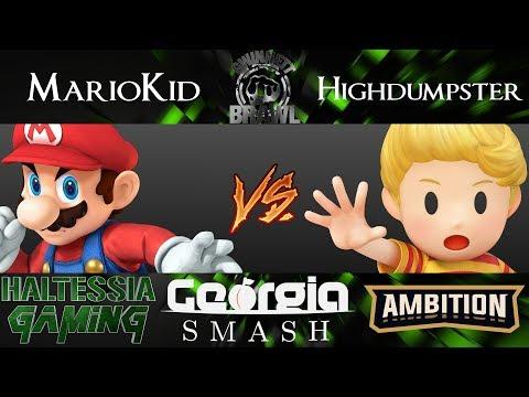 Gwinnett Brawl 48 Smash 4 Singles AE | Nimbus | MarioKid (Mario) vs Highdumster (Lucas, Sonic)