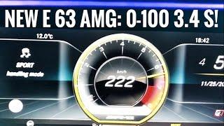 New Mercedes AMG E 63 S  0 100, 0 200 km/h! 612 hp, 850 Nm!