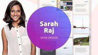 Live UI/UX Design with Sarah Raj - 1 of 3