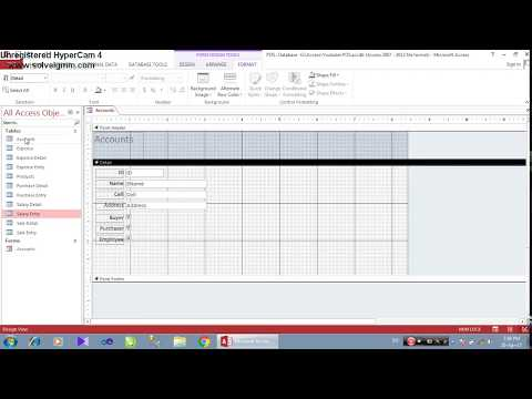 Point of Sale Complete Database in MS Access With Relational Database Part-1/7