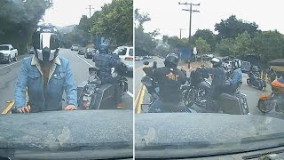Did Motorcyclists Antagonize Driver and His Family?