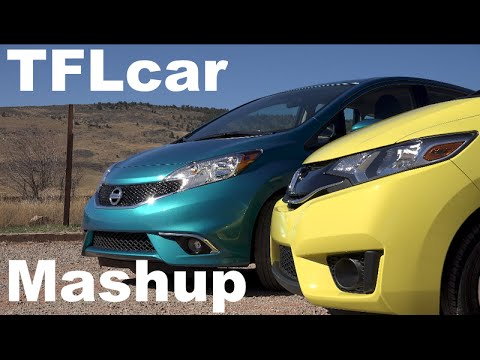 2015 Honda Fit vs Nissan Versa Note TFL4K Mashup Review Fun v Frugal