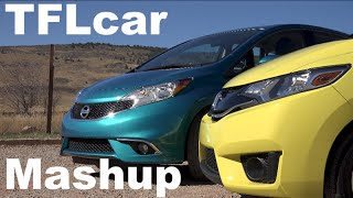 2015 Honda Fit vs Nissan Versa Note TFL4K Mashup Review: Fun v Frugal