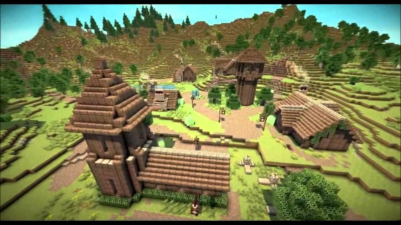 Minecraft   Medieval Village (Build #1)   YouTube