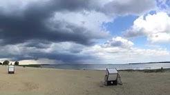 Panorama Freest Strand - Strandwetter - Gewitter