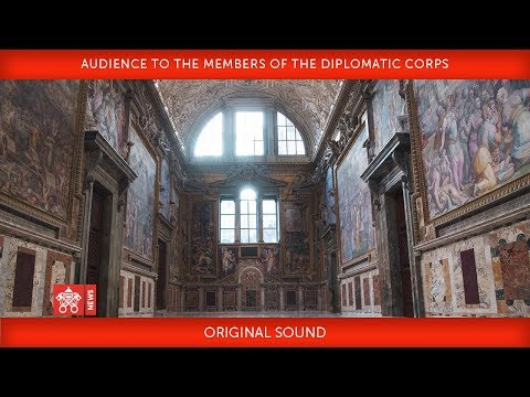 Pope Francis Audience to the members of the Diplomatic Corps 2019-01-07