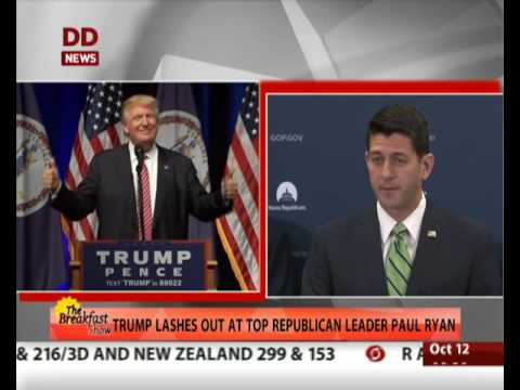 Trump lashes out at top Republican leader Paul Ryan