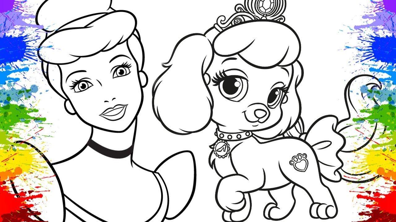 Colorindo Princesa Cinderela Desenho Em Português Palace