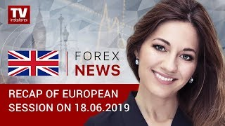 InstaForex tv news: 18.06.2019: Euro tumbles on Draghi's rate cut comments (EUR, USD, GBP, GOLD)