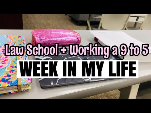 WEEK IN MY LIFE | Law Student Working a 9 to 5 Job!