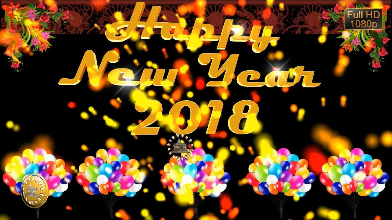 Happy New Year 2018 Wisheswhatsapp Videonew Year Greetings