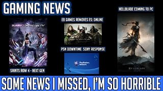GAMING NEWS: Saints Row 4 Next Gen, Sony's Down, Hellblade PC, EB Remove ES: Online