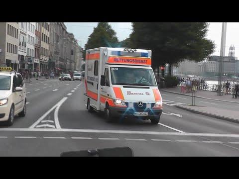 [RTK6 E-Horn UND PRESSLUFT ZUGLEICH] RTW 26/42 JUH Hamburg (HD)