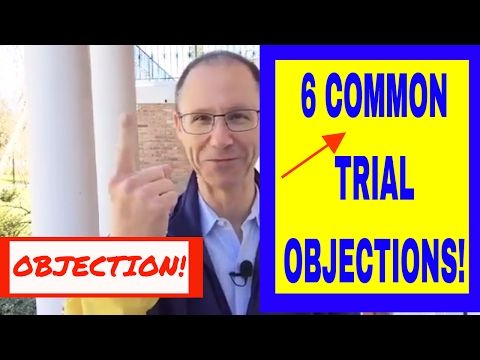 6 COMMON TRIAL OBJECTIONS! NY Attorney Gerry Oginski Explains