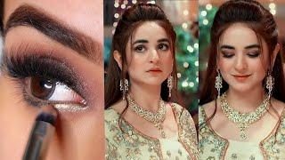 "Raaz -e-Ulfat ""Yumna Zaidi"" Makup & Dress Step By Step !!"