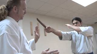 How to Disarm a Knife Pointed at You | Weapon Disarm Techniques