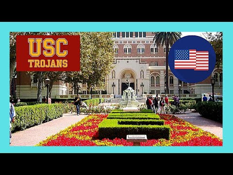 A tour of beautiful USC (University of Southern California), Los Angeles