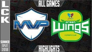 Mvp vs jag highlights all games - lck summer 2018 week 2 day 4 - mvp vs jin air greenwing highlights