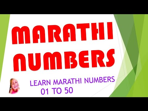Learn Marathi Numbers from 01 to 50