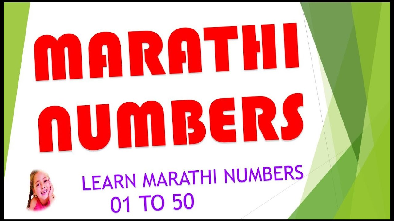 Learn Marathi Numbers Video from 01 to 50