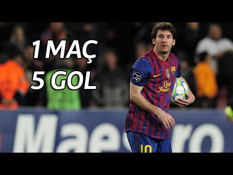 Lionel Messi'nin, Bayer Leverkusen'e Att??? 5 Gol | 2012 ?ampiyonlar Ligi