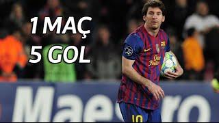 Lionel Messi'nin, Bayer Leverkusen'e Attığı 5 Gol | 2012 Şampiyonlar Ligi